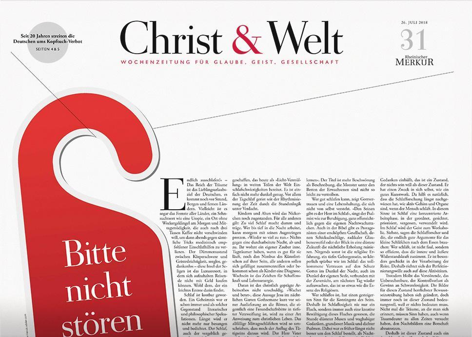Christ&Welt 31/2018