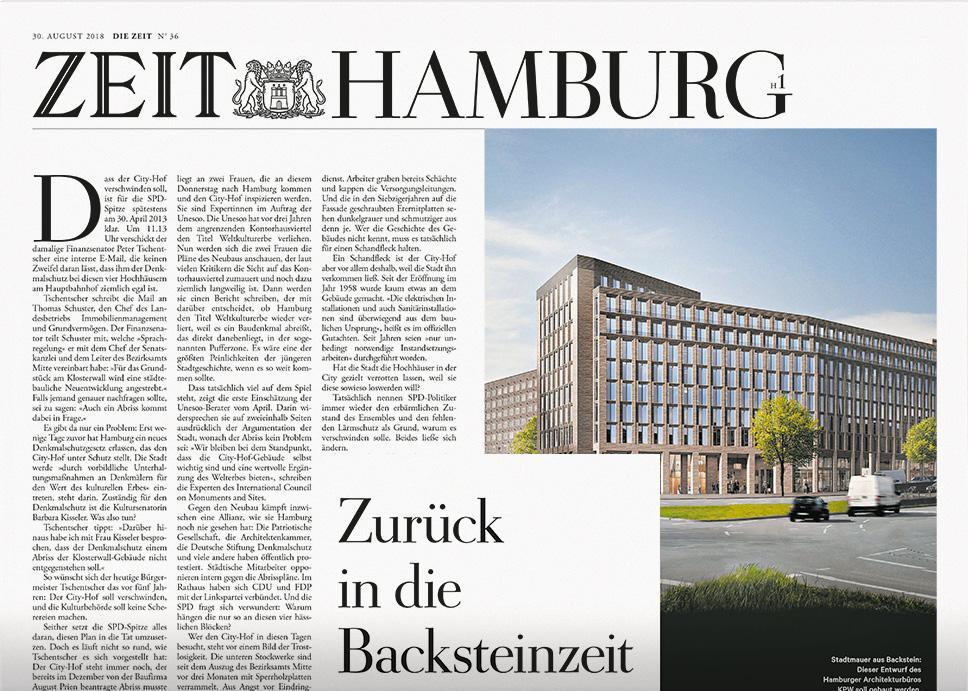 DIE ZEIT Hamburg 36/2018
