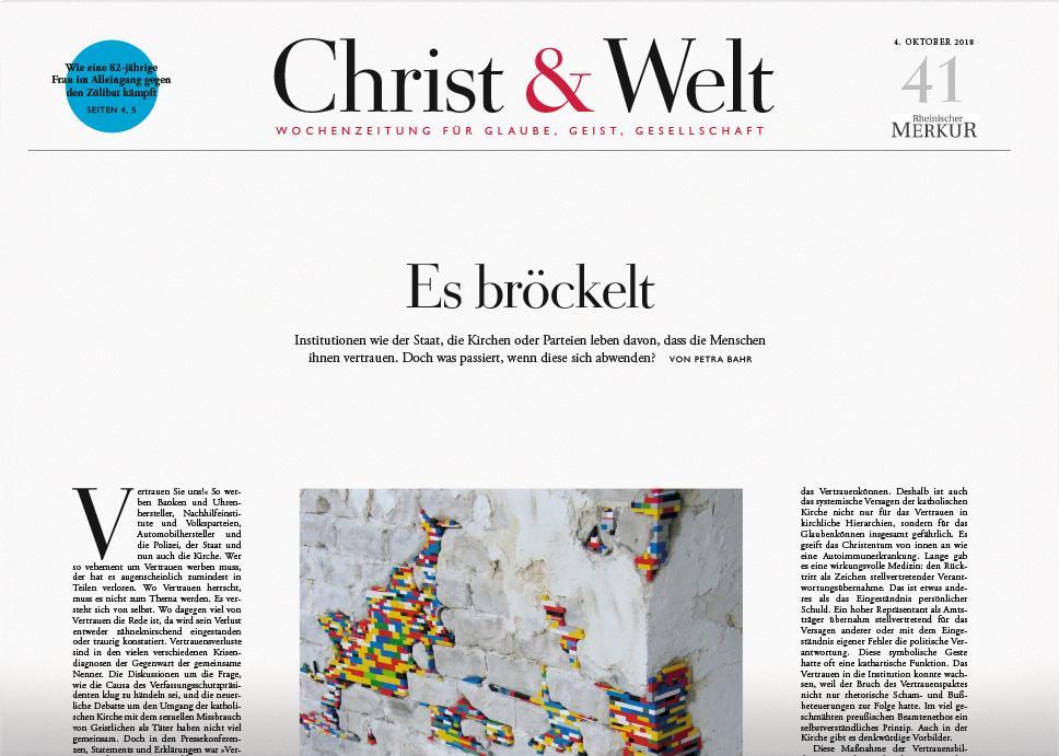 Christ&Welt 41/2018