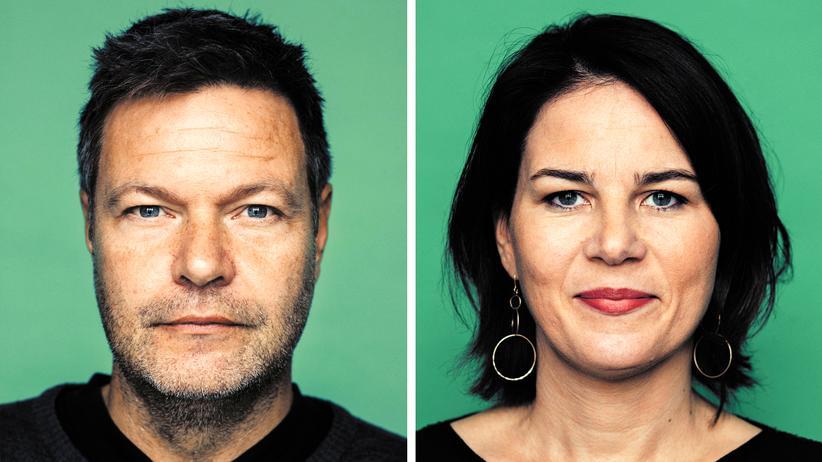 Die Grünen: Für sie geht's aufwärts: Robert Habeck und Annalena Baerbock sehen einer glänzenden Zukunft entgegen.