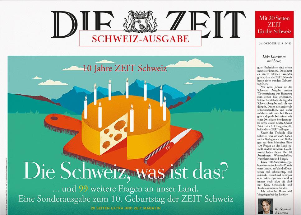 DIE ZEIT Schweiz 45/2018