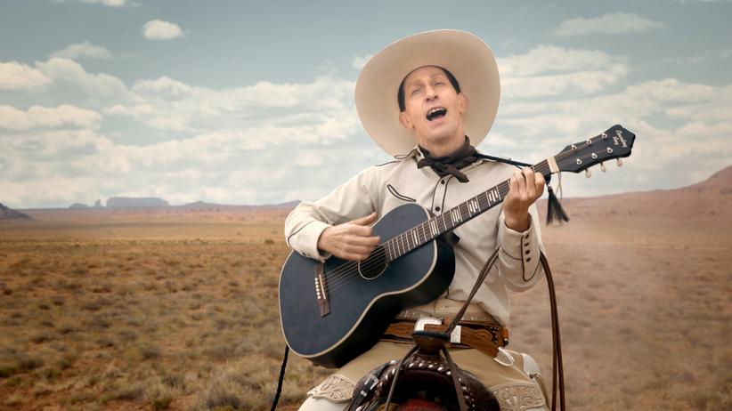 """Joel und Ethan Coen: Tim Blake Nelson als singender Revolverheld in dem Film """"The Ballad of Buster Scruggs"""" (zu sehen auf Netflix ab dem 16. November)"""