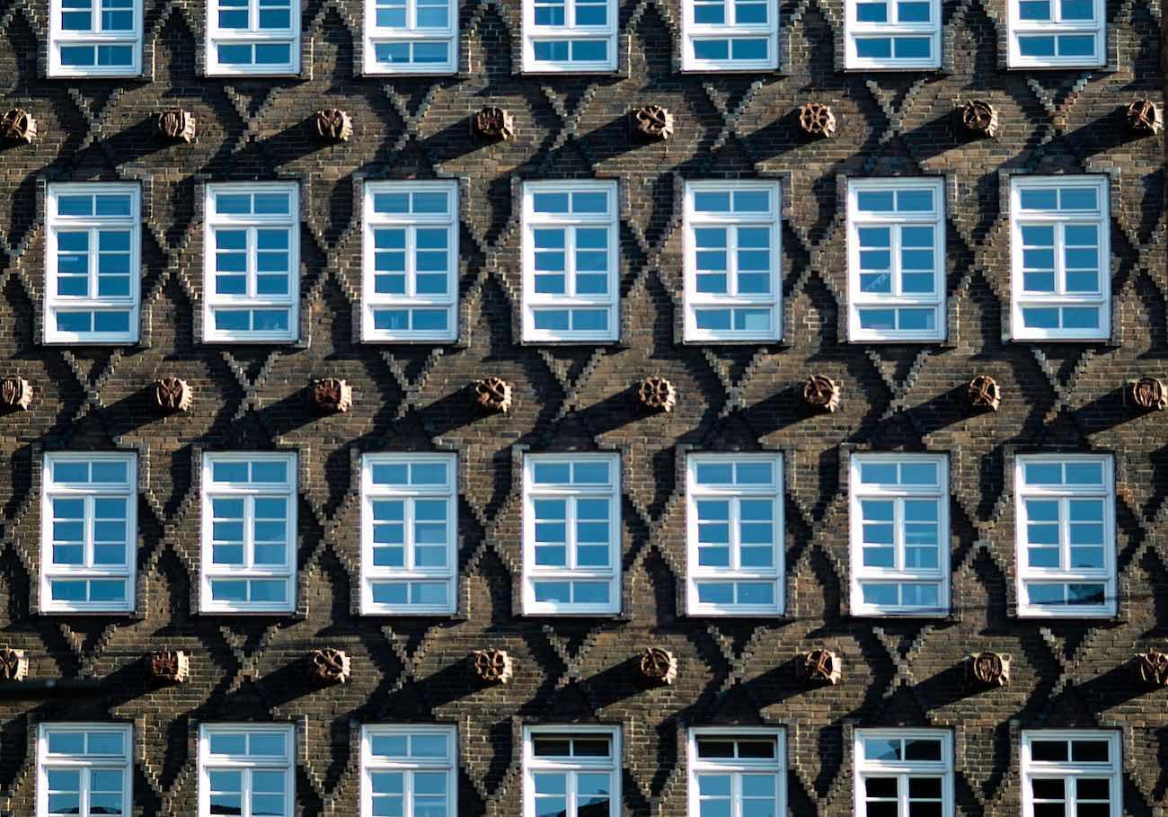 Backstein-Ornamentik Kontorhausviertel nähe Chilehaus.