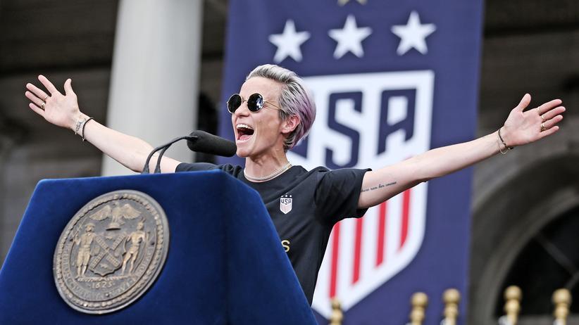Fußball-WM der Frauen : US-Kapitänin Megan Rapinoe spricht – und Trump muss zuhören