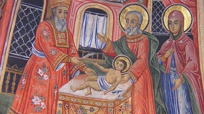 Antisemitismus: Darstellung der Beschneidung Jesu in einem bulgarischen Kloster