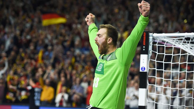 Handball: Der Torwart der deutschen Handball-Nationalmannschaft Andreas Wolff im Spiel gegen Kroatien
