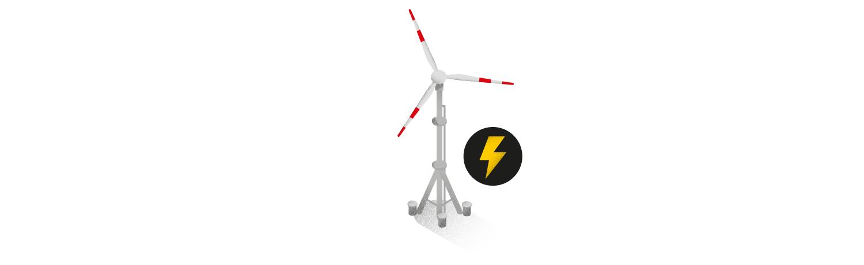"""Antarktis Station """"Neumayer III""""Antarktis Station """"Neumayer III"""": Per Windrad entsteht ein Teil des benötigten Stroms. Die meiste Energie wird aus Diesel gewonnen, der per Schiff angeliefert wird."""