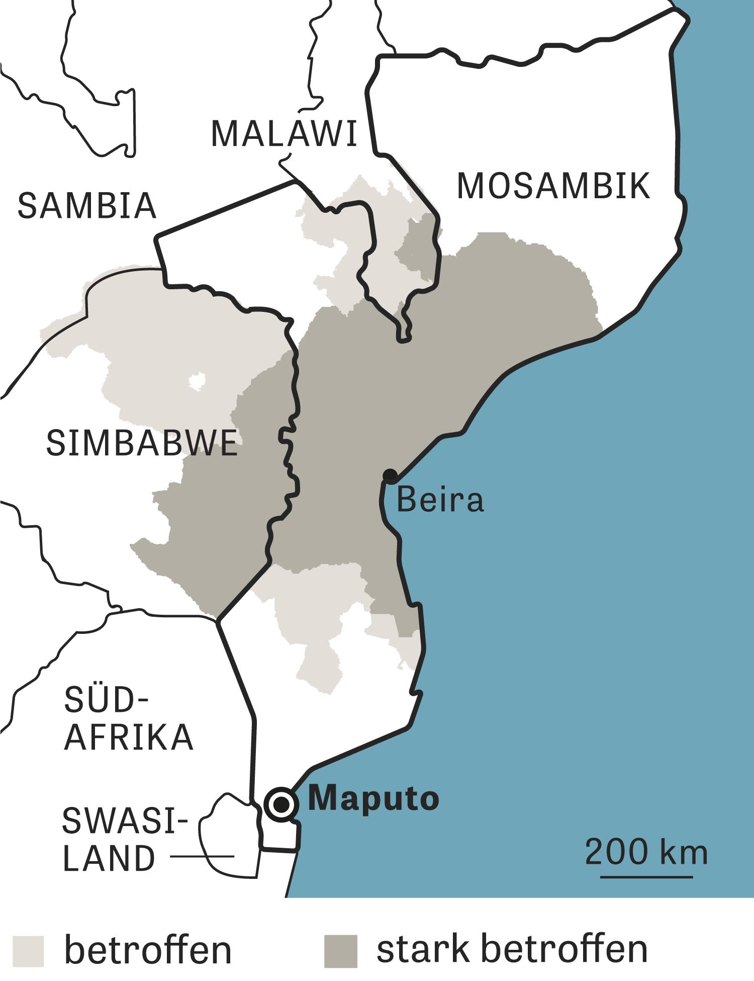 Mosambik Karte.Zyklon Idai Warum Kann Mosambik Seine Bürger Nicht Schützen Zeit