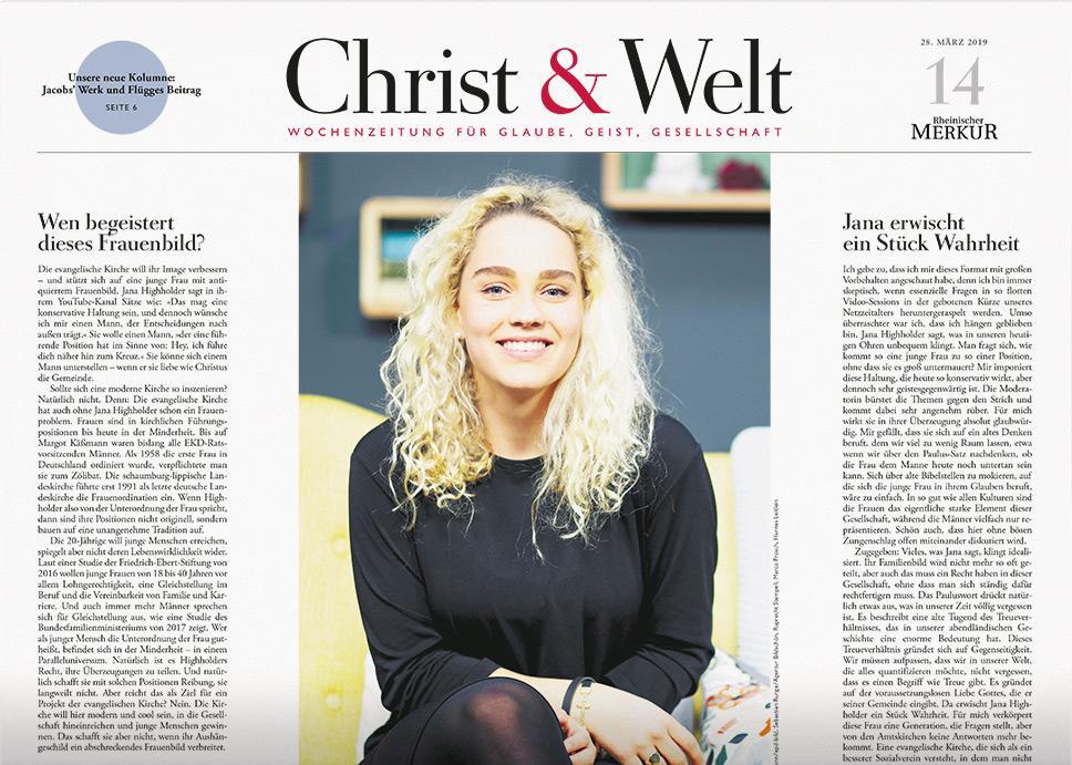 Christ&Welt 14/2019