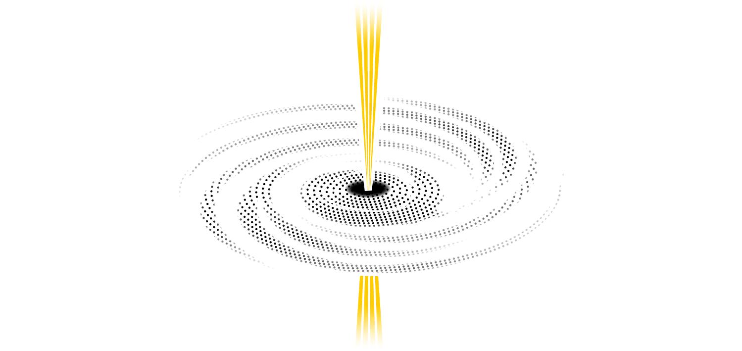 Schwarze Löcher: Was treibt die gewaltigen Jets an, die einige der Giganten ins All schleudern? Magnetfelder aus der Scheibe oder solche, die durch die Drehung des Schwarzen Lochs selbst entstehen? Und entstehen auch im Zentrum unserer Milchstraße solche Jets? Das könnte eine Aufnahme beantworten.