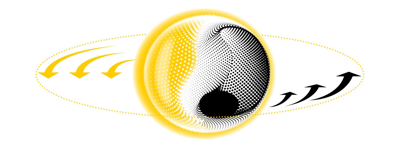 Schwarze Löcher: Weil sich die leuchtende Materie um das Loch herum dreht, sollte ihr Lichtschein ungleich hell sein: So wie eine nahende Polizeisirene höher klingt, müsste jene Seite, die sich zur Erde hindreht, heller erscheinen. Das Loch selbst müsste in einer Aufnahme als schwarzer Fleck erscheinen.