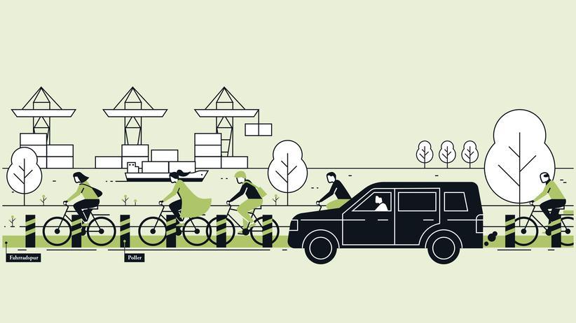 Sicherer Radweg: Großspuriges Konzept