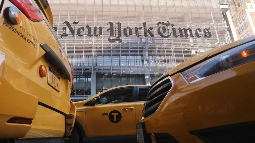 """Die """"New York Times"""", 1851 gegründet, ist bis heute eine der einflussreichsten Zeitungen der Welt. Seit 2007 residiert sie in diesem 319 Meter hohen Büroturm des Stararchitekten Renzo Piano."""