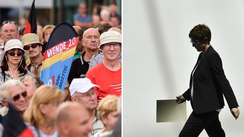 CDU: Die CDU-Chefin Annegret Kramp-Karrenbauer steht für ihre Haltung zur AfD in der Kritik.