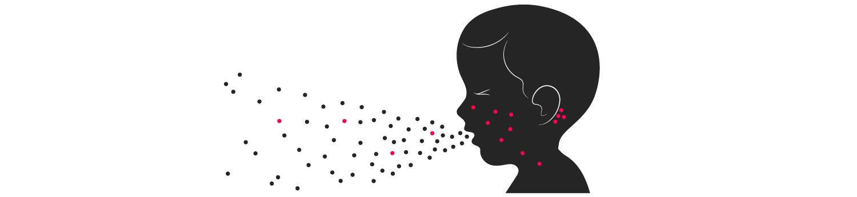 Masern: Klassischerweise verbreitet sich das Virus über Tröpfchen, also wenn ein Infizierter spricht, hustet oder niest. Wer mit dem Keim in Kontakt kommt, erkrankt in den allermeisten Fällen selbst.