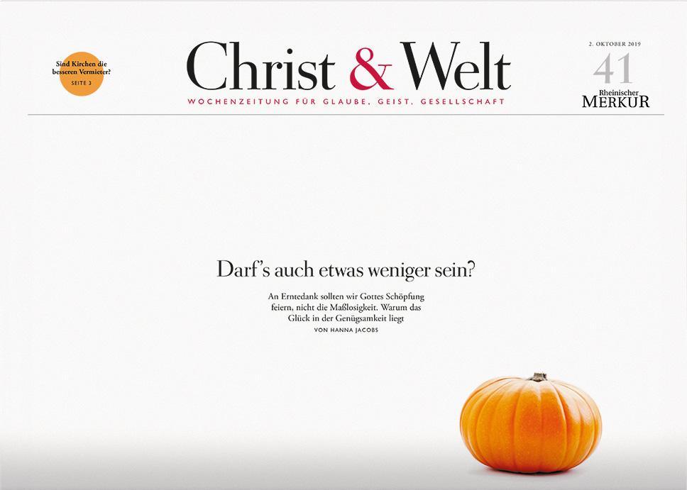Christ&Welt 41/2019