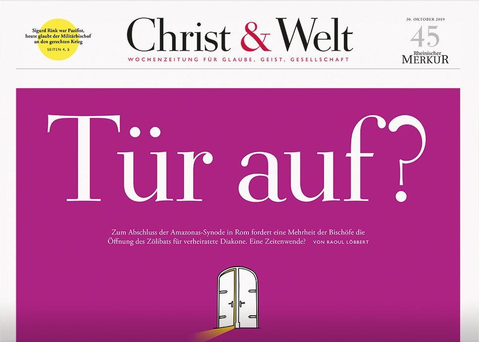 Christ&Welt 45/2019