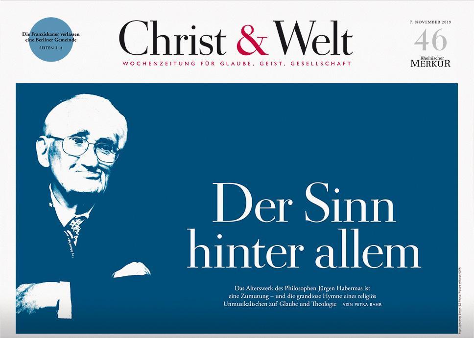 Christ&Welt 46/2019