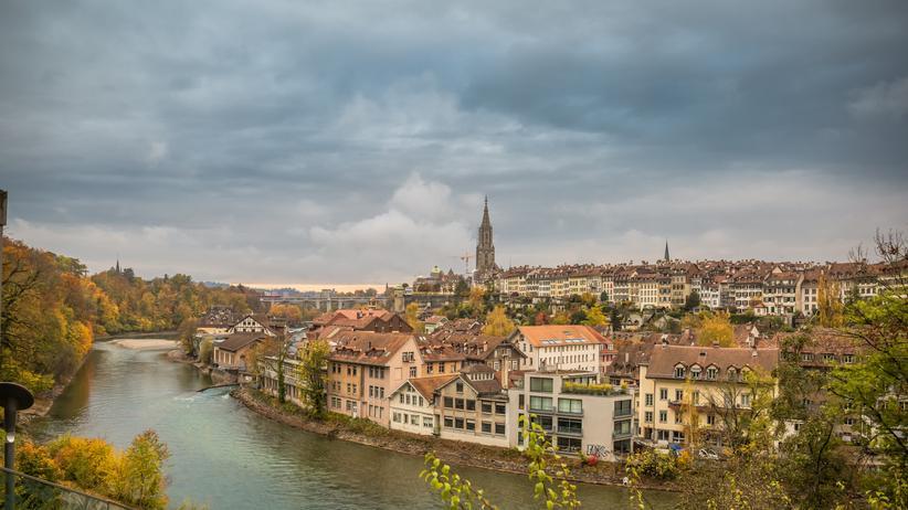 Flüsse in den Alpen : Die Aare bei Bern