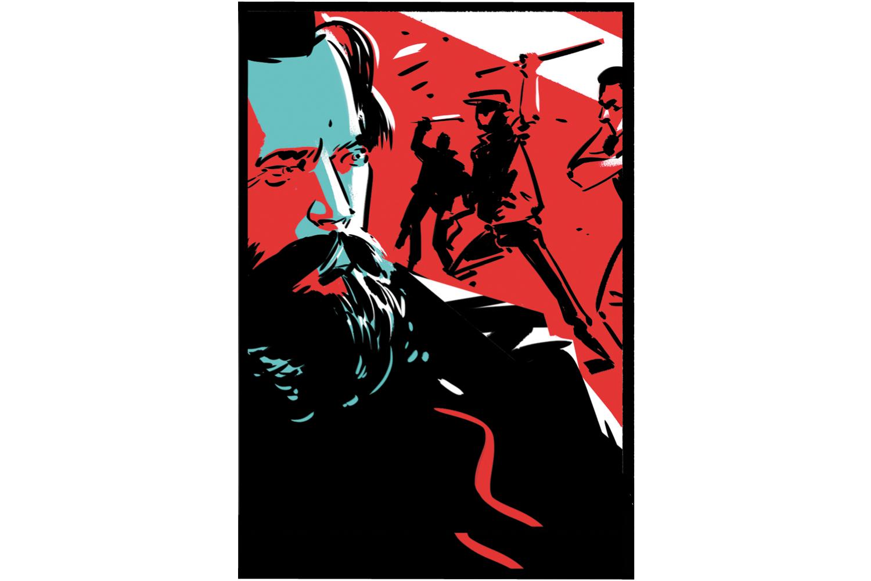 """Studentischer Protest: An der Technischen Universität Hannover hetzen antisemitische Studenten gegen den jüdischen Philosophie-Professor Theodor Lessing. Sie gründen einen """"Kampfausschuss gegen Lessing"""", fordern seine Entlassung und belagern  seinen Hörsaal. Als Lessing  die Hochschule verlässt, laufen sie ihm hinterher und bewerfen ihn mit Erdklumpen. Später besetzen 700 Studenten, mit Stöcken bewaffnet, den Eingangsbereich der Hoch- schule. Lessing hört mit seinen Vorlesungen auf und reist als Redner durch Deutschland. 1933 wird er im Exil von  Nationalsozialisten erschossen."""