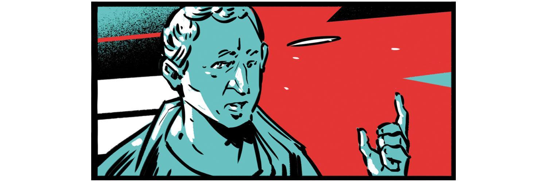 Studentischer Protest: Milo hat Clodius umgebracht. Alles richtig gemacht, findet Cicero, der Clodius sowieso nicht ausstehen konnte. Als er zur Verteidigungsrede vor Gericht ansetzt, rufen seine Gegner ständig dazwischen. Cicero kommt durcheinander, redet wirr vor sich hin – und verliert den Prozess. Später veröffentlicht er die Textversion der Rede, die er eigentlich halten wollte.