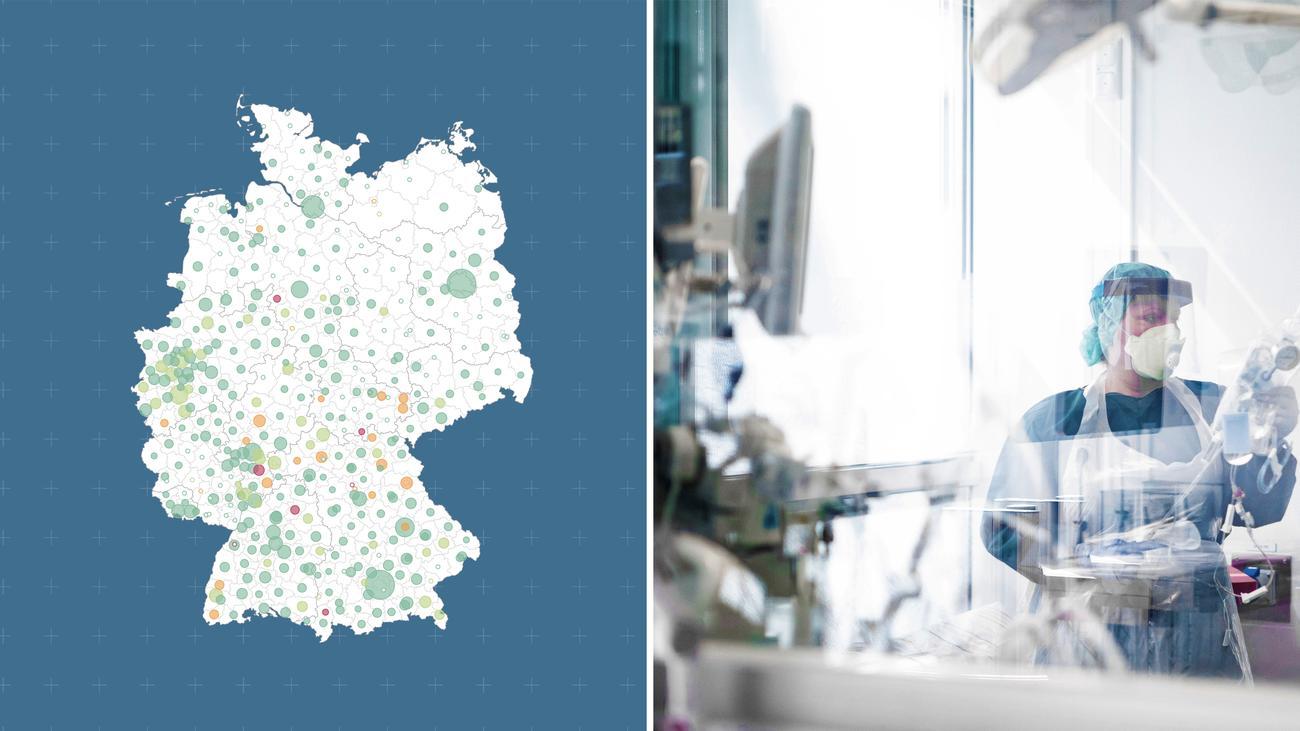 Wo Intensivbetten in Deutschland knapp sind