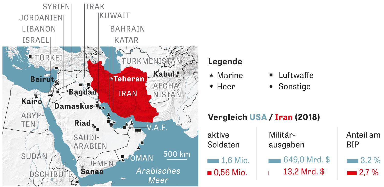 Raketenangriffe: US-Stützpunkte in der Krisenregion