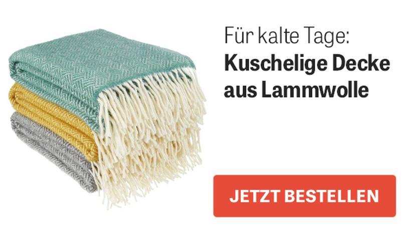 Kuschelige Decke aus Lammwolle