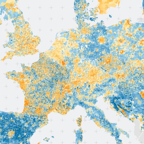 Demographics in Europe: The Commuter Belt Effect
