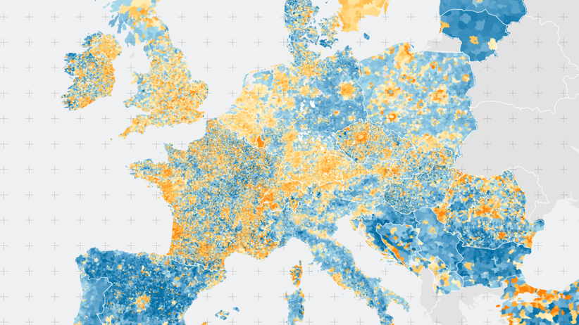 Demografie : Europas Speckgürteleffekt
