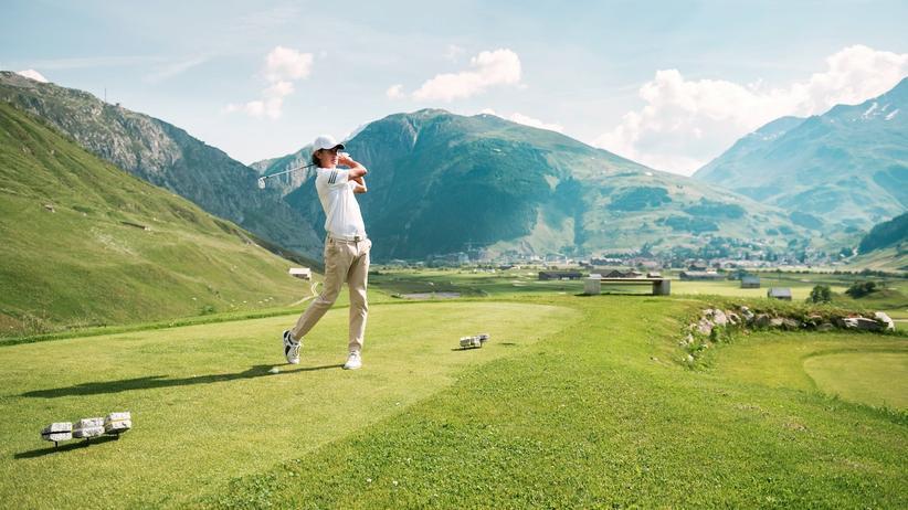 Der schottisch anmutende Golfplatz von Andermatt