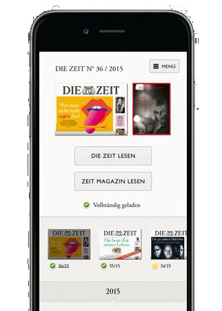 Die ZEIT iPhone-App für iOS im Abo