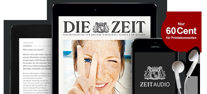 Die digitale ZEIT für Printabonnenten