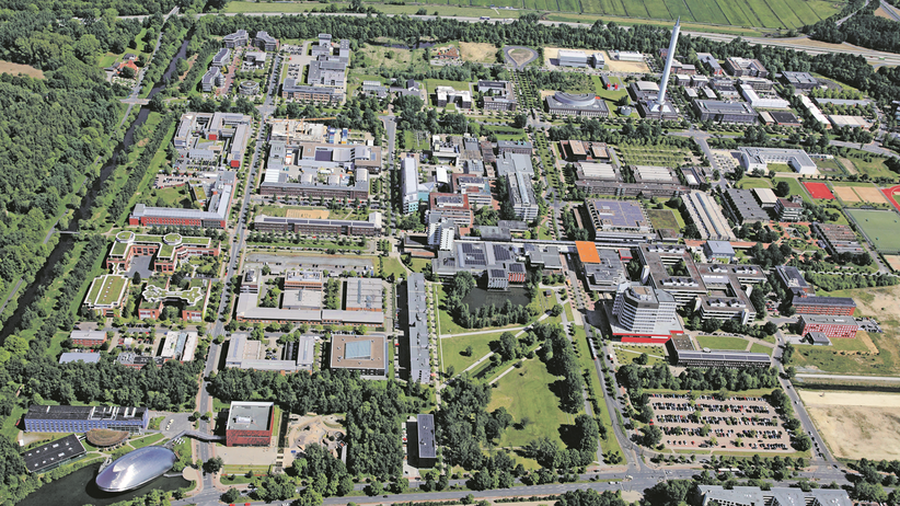 Ein Beitrag der Universität Bremen: Interdisziplinäre Forschung und kurze Wege: Rund um die Universität Bremen hat sich ein großflächiger, moderner Campus mit zahlreichen außeruniversitären Instituten als Kooperationspartner entwickelt. (© Uni Bremen)