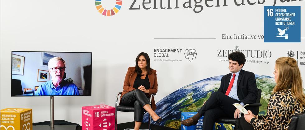 Folge 7 – SDG 16 Frieden, Gerechtigkeit und starke Institutionen: Frieden auf der Welt – ein frommer Wunsch?