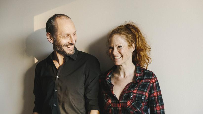 Zusammenarbeit von Paaren: Die Schriftstellerin Alexa Hennig von Lange mit ihrem Partner, dem Autor Marcus Jauer.