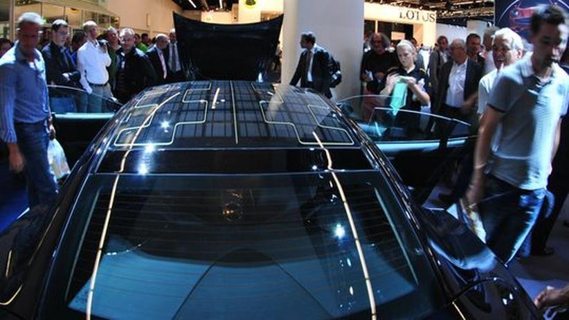 elektromobilit t solarzellen auf dem sportwagen zeit online. Black Bedroom Furniture Sets. Home Design Ideas