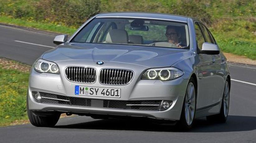 Sparsam mit Verbrennungsmotor: Mit fünf Litern im Fünfer BMW