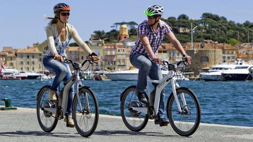 Radfahrer auf Pedelecs von Smart