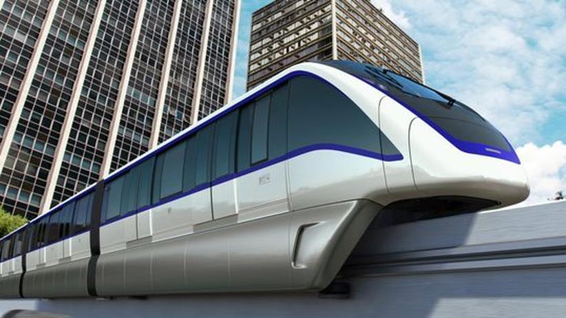 Computerzeichnung der geplanten Monorail in São Paulo