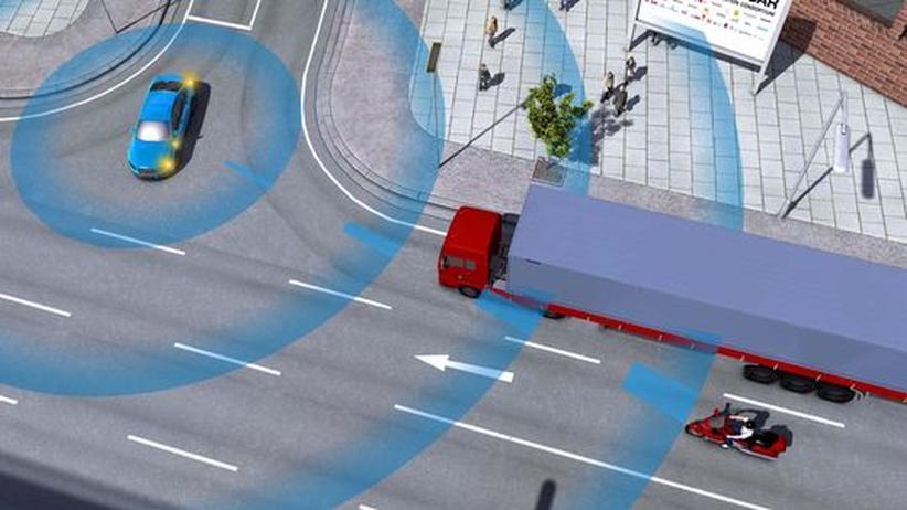 Intelligenter Verkehr: Das Auto schaut um die Ecke