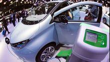 Das Elektroauto Zoe von Renault auf dem Pariser Autosalon 2012