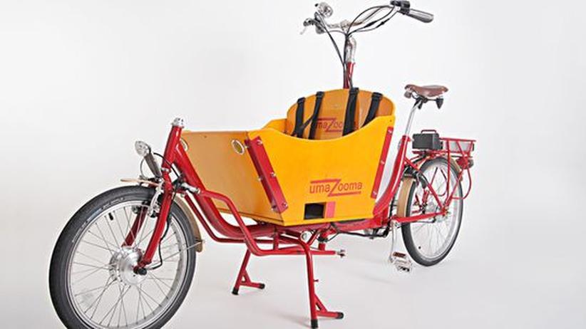 Das elektrisch angetriebene Lastenfahrrad umaZooma