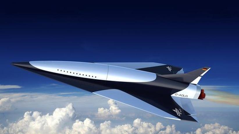 Computergrafik des Überschallflugzeugs Spaceliner, das vom Deutschen Zentrum für Luft- und Raumfahrt entwickelt wird