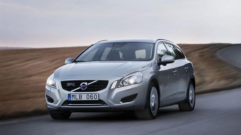 Der V60 von Volvo ist ein Plug-in-Hybrid mit Dieselmotor.