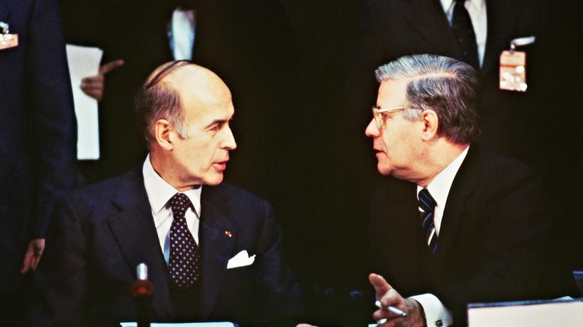 Valery Giscard d'Estaing und Helmut Schmidt
