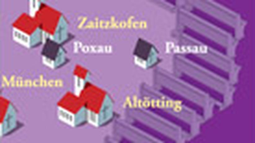 Deutschlandkarte: Die Pius-Kirchen