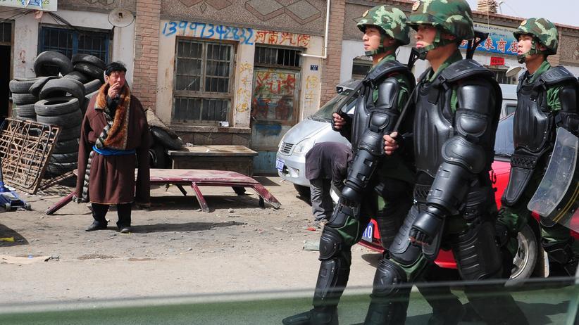 Tibet: Protest im Lotossitz