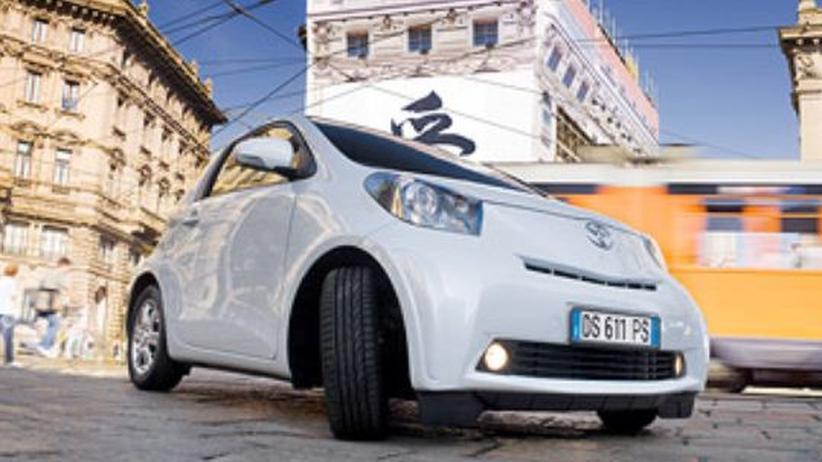 Der Toyota iQ im Stadtverkehr