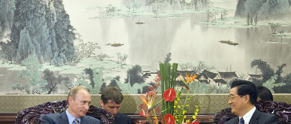 Russlands Premier Putin und Chinas Parteichef Hu